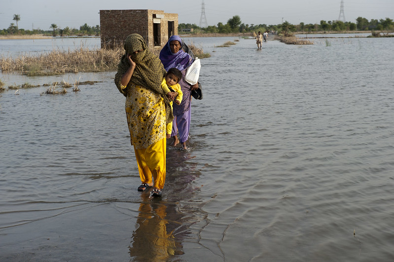 Überflutung in Pakistan