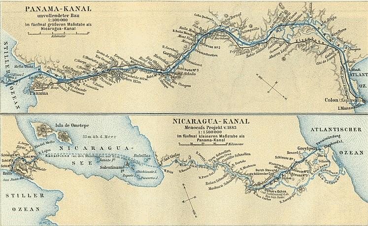 Kanäle in Mittelamerika