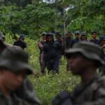 Kolumbianische Polizei beseitigt eine Koka-Plantage Die kolumbianische Polizei bei der Beseitung einer Koka-Plantage | Bild (Ausschnitt): © Policía Nacional de los colombianos [CC BY-SA 2.0] - https://www.flickr.com/