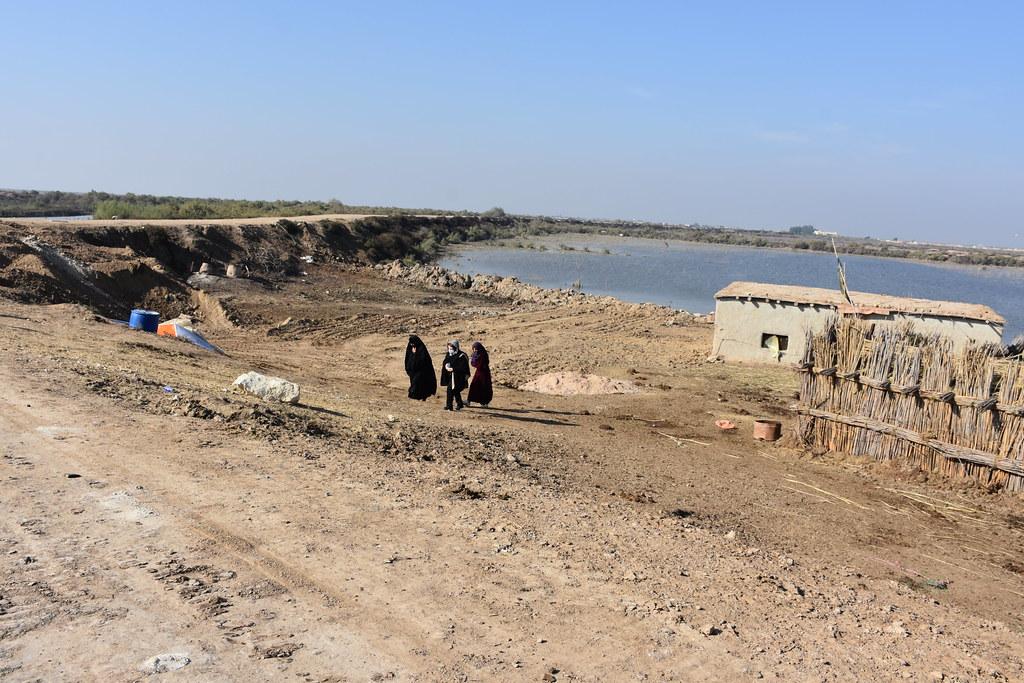 Trockene Landschaft im Irak